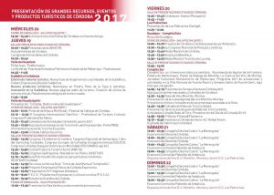 Programa Fitur2017 Córdoba